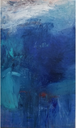 birthed-from-the-deep / 36x60 in canvas / $3000.00