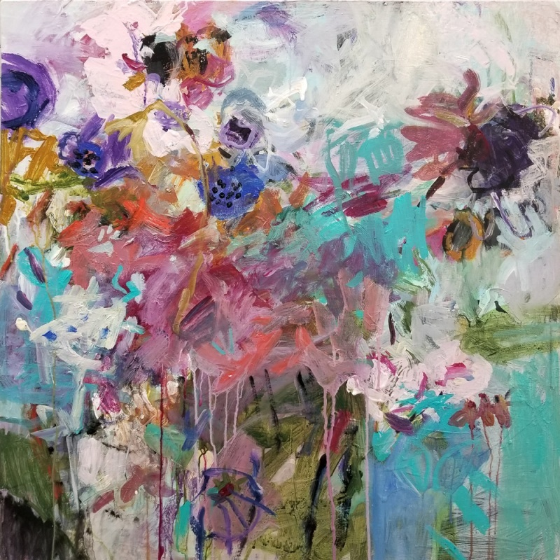 Blooms for a Sonnet / 30x30 in