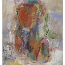 bison on the beach-2, 36x48inch. $3000.00