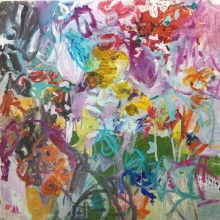 Flowers For Hans / 36x36 in. /
